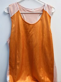 Orange/White Pinny